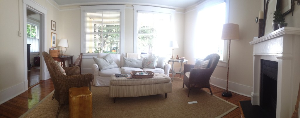 The living room looks like a great spot to relax and shows off all of the seating.